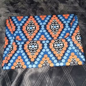 Vera Bradley Marrakesh Beads envelope clutch🟠🔵👝